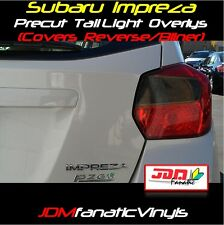 12-17 Impreza Tail light Overlays Reverse Blinker SMOKE TINT Vinyl JDM PRECUT