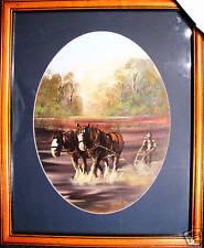 (P) Peter Gasson  Australian oval oil painting 'Golden Memories''