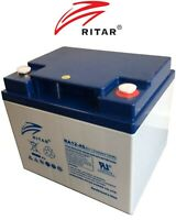 RITAR 12V 45AH  DEEP CYCLE AGM BATTERY GOLF CART WHEEL CHAIR MOBILITY SCOOTER