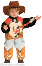 INFANT LI'L ROCK STAR COUNTRY SINGER HALLOWEEN COSTUME 18.5-23 Lbs HAT & ONESIE