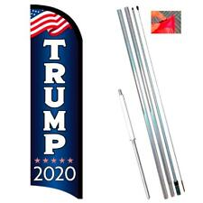 Trump 2020 Premium Windless-Style Feather Flag Bundle 14' OR Replacement Flag On