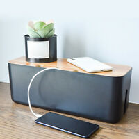 Cable Storage Box Charger Socket Organizer Multi-functional Desktop Network Line