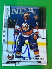 New York Islanders DENNIS SEIDENBERG Signed O Pee Chee Card