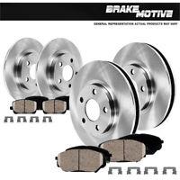 Front+Rear Brake Rotors /& Ceramic Pads For Lincoln MKC
