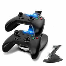 LED Light Dual Charging Dock Station Holder USB Charger for XBOX ONE Controller