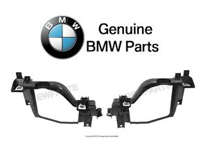 For BMW E60 E61 525i 528xi Pair Set of Left & Right Headlight Brackets Genuine