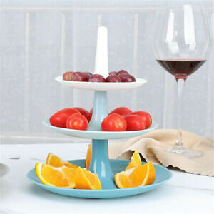 3-Tier Food Cupcake Stand Tiered Serving Tray Fruit Cake Plate For Baby Shower