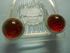 Norton Motorcycle License Plate Reflectors (Fasteners)  Glass and Aluminum
