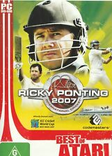 Pc Game - Ricky Ponting 2007 - International Cricket (Disk & Cover Art Only)