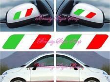 coppia adesivi sticker vinile italia specchietti tuning auto moto scooter casco