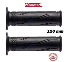 COPPIA MANOPOLE FORATE ARIETE MOTO SCOOTER NERE 120 MM 22/25 02626AF
