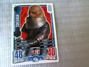 Doctor Who Alien ATTAX Trading Card 50th Anniversary Edition No: 26 Sontaran.