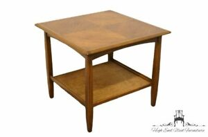 """BASSETT FURNITURE Mid Century Modern 24"""" Square Accent End Table 620-64-640"""