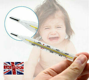 Adult Kids Thermometer Scale Temperature Glass Clinical Accuracy MERCURY FREE