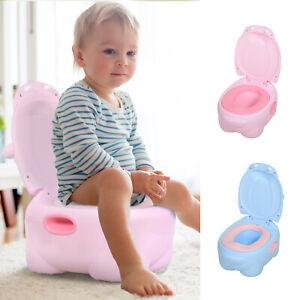 Portable Baby Potty Kids Children Training Toilet Trainer Stool wth Cushion