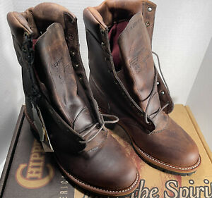 """NOS New Chippewa Logger 11"""" Insulated Work Boots Men's 9E Style 25484 Read Desc."""