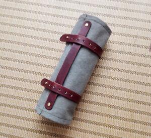 4 Pocket Japanese Chef Knife Roll Bag Canvas Leather Knife Carry Case Wallet Bag