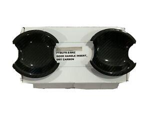 Carbon door handle bowl protector for 12~20 Toyota GT86 Scion FRS Subaru BRZ