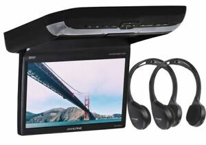 "NEW Alpine 10.2"" Flip-Down Video Monitor W/ Built-In CD/DVD Player PKG-RSE3DVD"