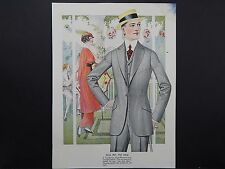 Men's Fashion, Suits, Clothing, 1920's Catalog, One Page, S1#06