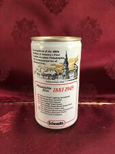 SCHMIDTS 300TH ANNIVERSARY 12 oz Beer Can 1975 Christian Schmidt Brewing w TAB