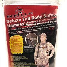 New Deluxe Gorilla Full Body Safety Harness Lineman's Style Model 43060