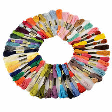 50pcs Cross Floss Stitch Thread Hand Embroidery Sewing Skeins Crafts Floss Lines