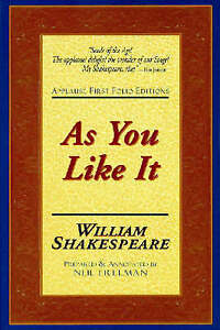 As You Like It: Applause First Folio Editions