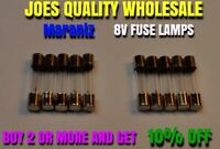 10 FUSE TYPE LAMPS 8v 200mA/250mA /BULBS/2230 2270 DIAL METER RECEIVER Marantz