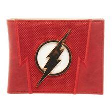 Official DC Comics The Flash Premium Suit Up Bi-Fold Wallet with Metal Logo