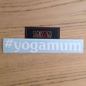 """YOGA MUM CAR STICKER """"Vinyl Cut Decal/Sticker"""" Made In Australia!"""