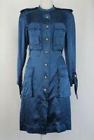 Lanvin Long Sleeve Silk Safari Dress, Size: UK 8/EU 36/US 4