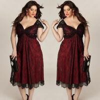 Plus Size Women Dress Sleeveless Long Dress Evening Party Prom Gown Formal Dress