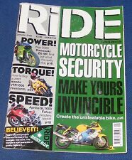 RIDE MAGAZINE JANUARY 2000 - MOTORCYCLE SECURITY