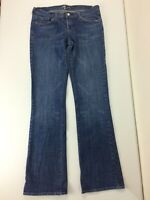 7 For All Mankind Womens Jeans Bootcut Blue Distressed Tag Size 30 Actual 32x33