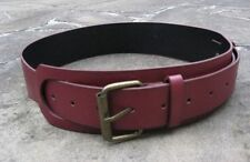 Faux Leather Solid Wide Belts for Women