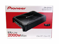 Pioneer GM-D9705 Car Audio 5-Channel Bridgeable Amp Amplifier 2000W  Power  New