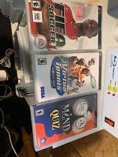 PSP. 3 Game Bundle Lot Mind Quiz Virtua Tennis FIFA Soccer Tested.