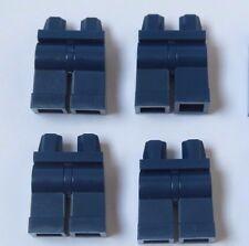 LEGO 4 gamba gambe parti inferiori per minifigura Figura Dark Earth Blu
