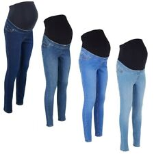 Maternity New Look LIFT & SHAPE Over Bump Jeggings Jeans Blue Sizes 8 - 20