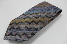 cravatta tie krawatte MISSONI geometric multicolor 100% seta silk soie (209)