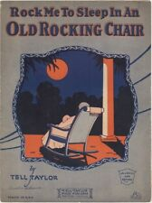 Rock Me To Sleep In An Old Rocking Chair vintage sheet music, 1926