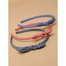 Gingham Headband | Back to School Essentials | Red, Blue, Black Head Band