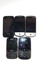 Cell Phones Untested For Parts HTC Samsung BlackBerry Sprint SPH-M920 Lot of 5