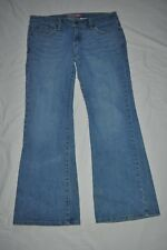 LEVIS Women's 11M Too Super Low 524 flare blue denim  jeans RED TAB vg - EUC