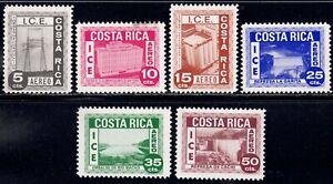 1967 Costa Rica SC# C437-C442 - Electrification Program - M-NH