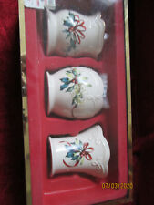 Lenox Winter greeting set of 3 votive candle holders