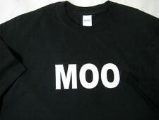 MOO - Milk Cow Farm Farmer Cattle XL Extra Large Navy T-Shirt New NWOT
