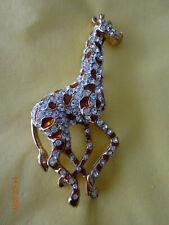 Tolle Brosche Modeschmuck Giraffe Anstecknadel NEU