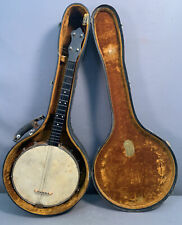 Antique 1930's Era LUDWIG CASE Old BANJO Wood GUITAR String SOUTHERN INSTRUMENT